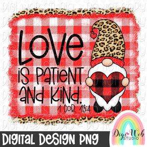 Love Is Patient And Kind - Digital Sublimation Printable