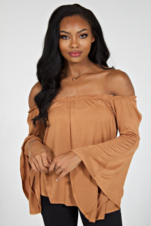 Hayden Off the Shoulder Top (Sand)