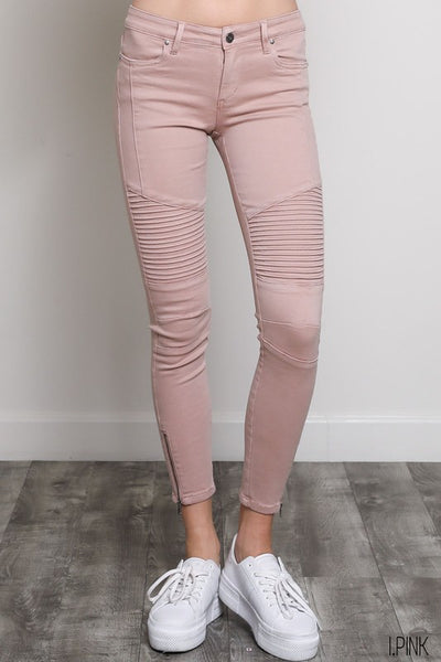 Riley Moto Jeans (Pink)