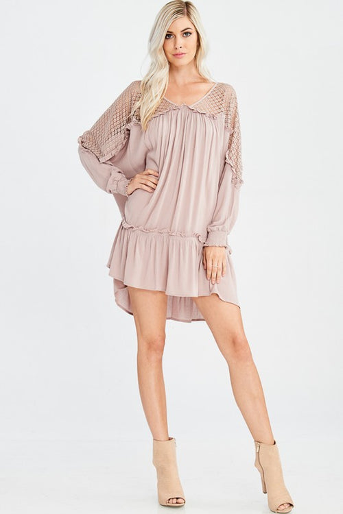 Heart Flutters Mini Dress (Twig)