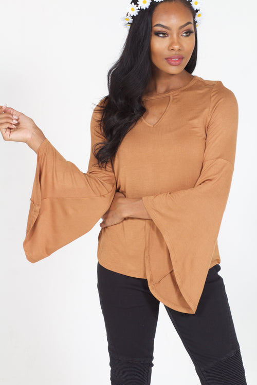 Morgan Keyhole Top (Sand)