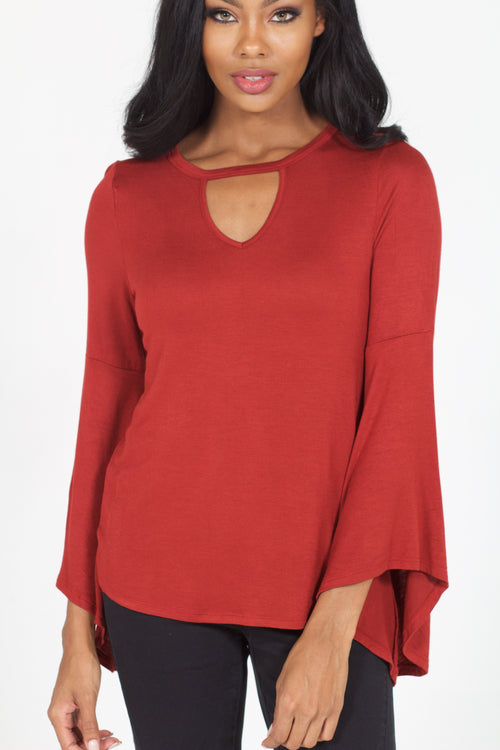 Morgan Keyhole Top (Chili Pepper)
