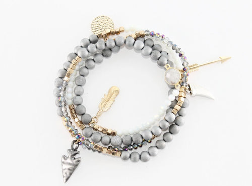 Lila Babe Extreme Bracelet/Necklace-Grey Druzy