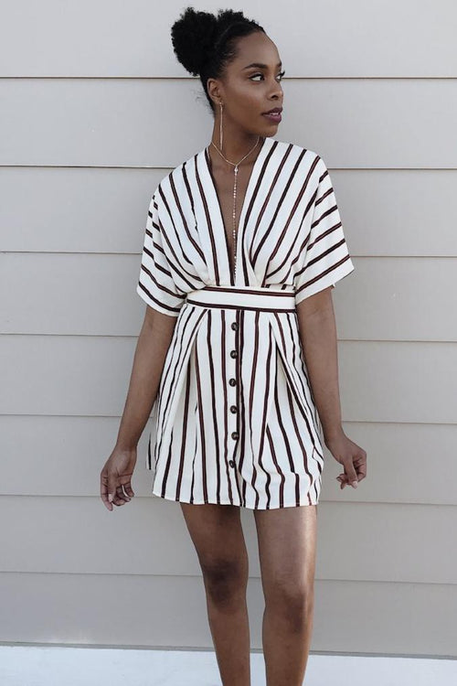 That's Darling Striped Mini Dress