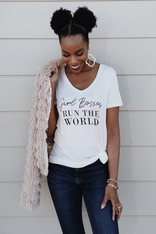 Girl Bosses Run The World Tee