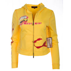 Raw7 Women's Yellow Zip Hoodie Wile E. Coyote and the Road Runner
