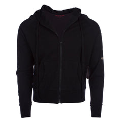 Raw7 Men's Black Zip Hoodie with Chinese Symbol for Life