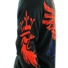 RAW 7 Men's Sweater Royal Eagle Design