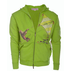 Curious George Men's Green Zip Hoodie Kite Design