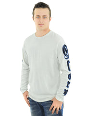 RAW7 Men's 100% Acrylic Crewneck Sweater Panther Design - Ivory.