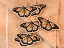 Embroidered Wool Monarch Patch