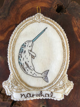 Embroidered Narwhal Spirit Guide