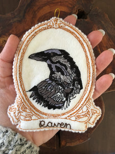Embroidered Raven Spirit Guide