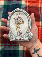 Embroidered Giraffe Spirit Guide