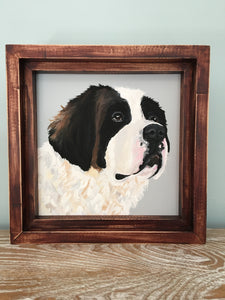 8 x 8 Custom Dog Portrait