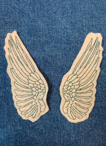Embroidered Wing Patch Set