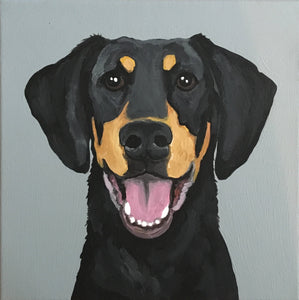 10 x 10 Custom Dog Portrait