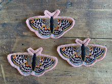 Embroidered Wool Butterfly Patch, Butterfly Patch, White Mountain Fritillary