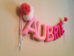"5"" Custom Felt Stuffed Banner"