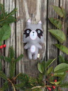 Felt Raccoon