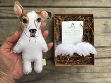 Pet Loss Memorial Keepsake with Custom Felt Dog