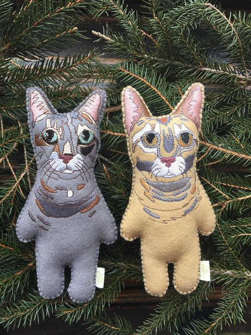 Custom Felt Cat Replica