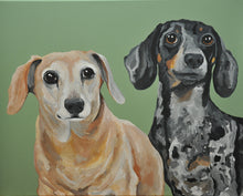 11x14 Custom Dog Portrait- 2 dogs