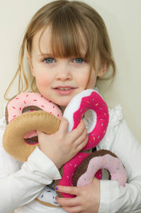 Felt Stuffed Donuts-  Set of 3