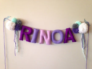 "4"" Custom Felt Stuffed Banner"