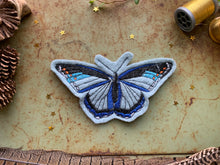 Embroidered Wool Blue Butterfly Patch