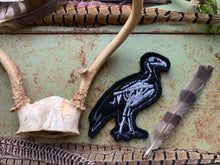 Embroidered Wool Vulture Skeleton Patch