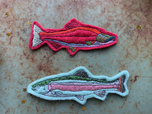 Embroidered Wool Rainbow Trout Patch