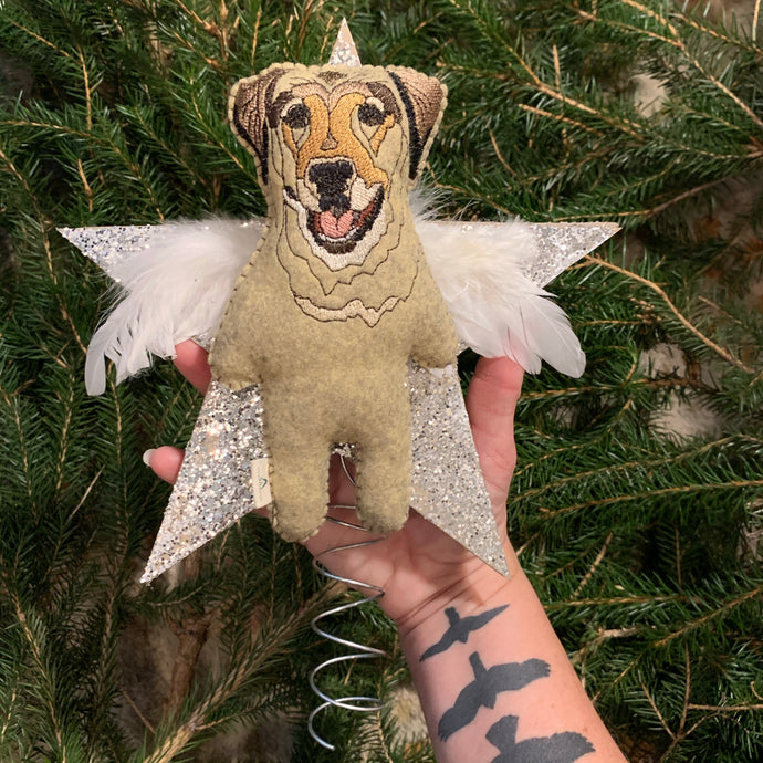 Custom Dog Memorial Tree Topper