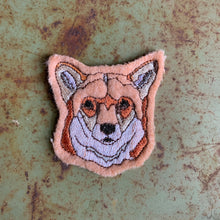 Embroidered Wool Fox Patch