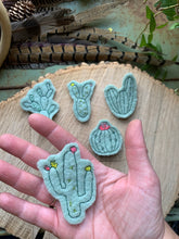 Embroidered Wool Cactus Patch set