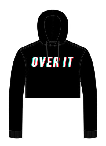 "Tristan's ""Over It"" Cropped Hoodie"
