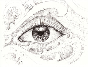 Eye Study Original Drawing