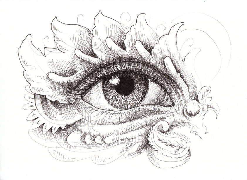 Eye Love You Tew Original Drawing