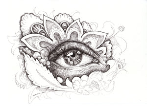 Eye Caramba Original Drawing