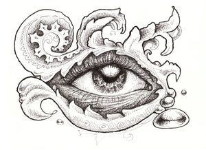 Eye & Eye Survive Original Drawing