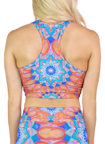 Union Mandala Orange Racerback Crop