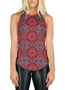 Party Monster Pattern RACERBACK TANK