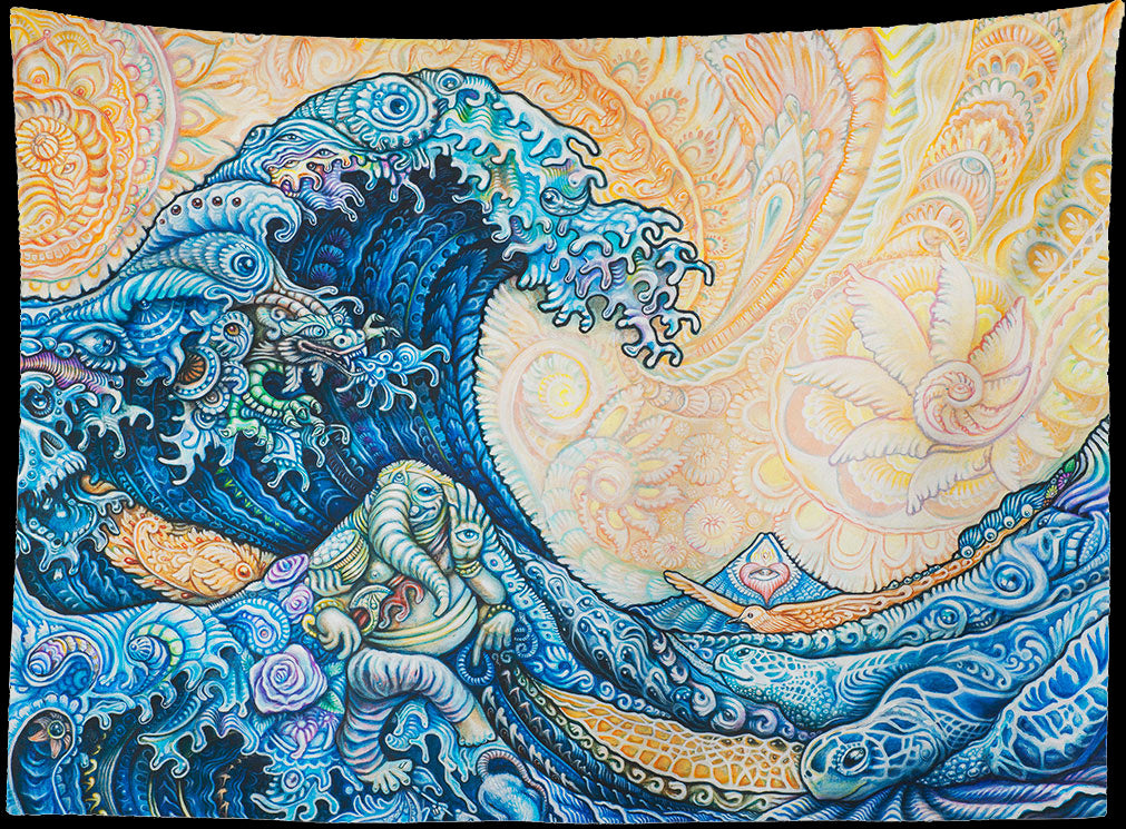 The Great Wave Remix Tapestry