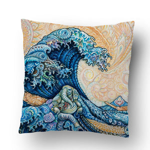 The Great Wave Remix Pillow