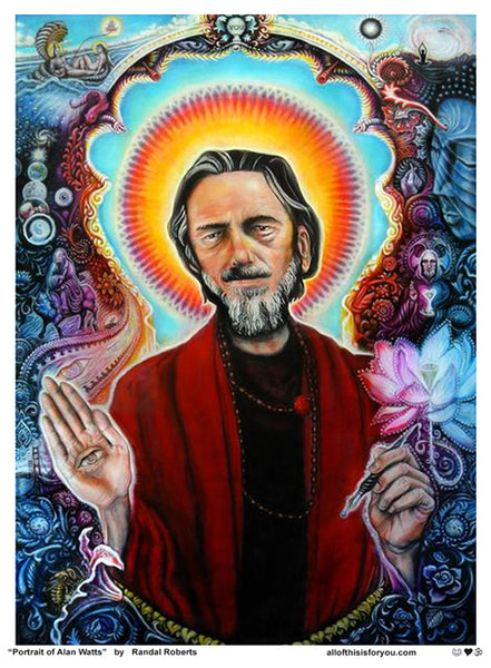 """Portrait of Alan Watts"""