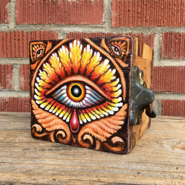 Eye of Providence Original Painting / Stash Box