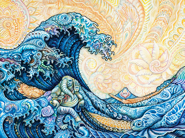 """Great Wave"" Blotter Art"