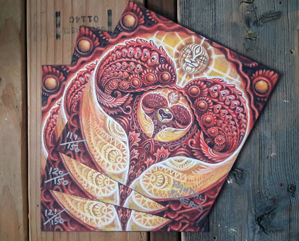 """Omega Heart"" Blotter Art Signed & Numbered"