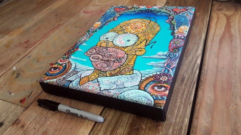 Homer Small Stretched Canvas