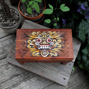 Rangda Box - Original Painting / Stash Box